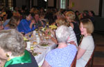 Dinner Saturday night: left to right, Ann Lemon (in glasses), Pat Dillon Wright, Susan Hastings Glendon, Robin Zimmerman Stephenson, Lisa Barlow, Jean Lamb Valenti, Karen Puskarz Robards, Louise Parent, Elaine Brighty and Mary Burton (hair only!)